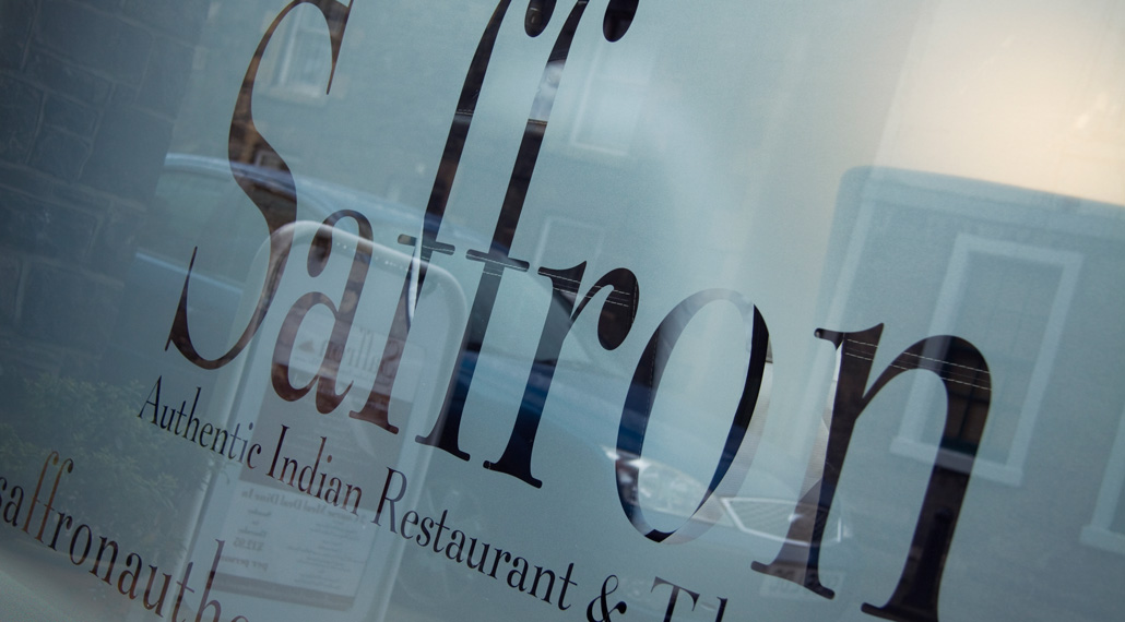 Saffron Indian Restaurant - Innerleithen - Restaurant window