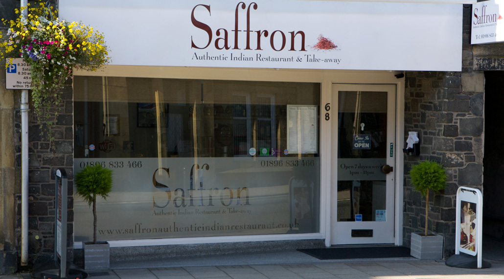 Saffron Indian Restaurant and Take away - Innerleithen - Exterior of restaurant
