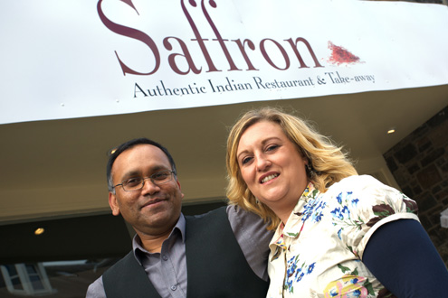 Saffron Indian restaurant and take away in Innerleithen near Peebles